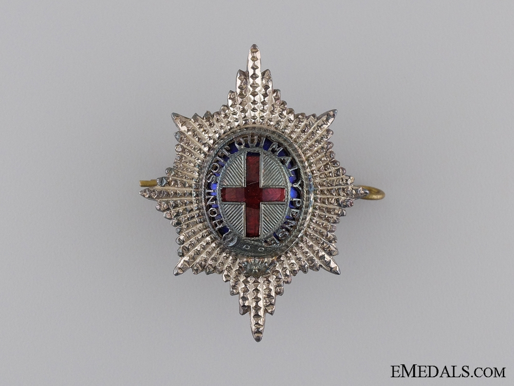 eMedals-A Sterling Silver Coldstream Guards Officer's Cap Badge