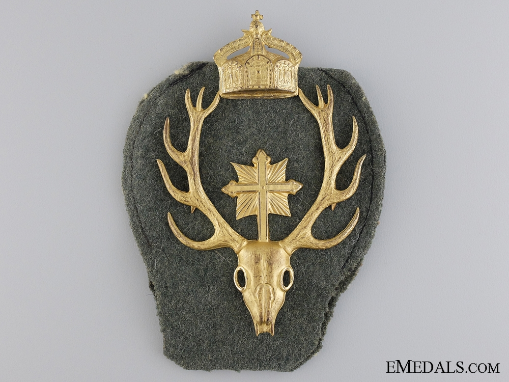 eMedals-A Sturmabteilung Rosbach Crowned Hubertus Badge