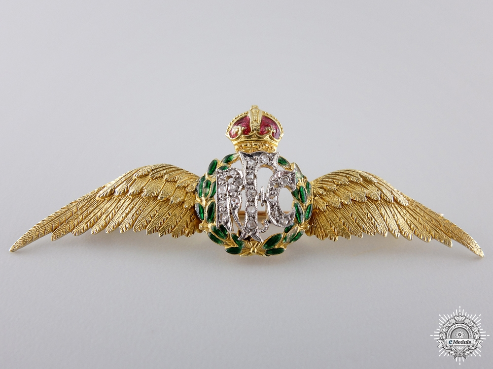 eMedals-Superb First War Royal Flying Corps Wings in Gold & Diamonds  $1000