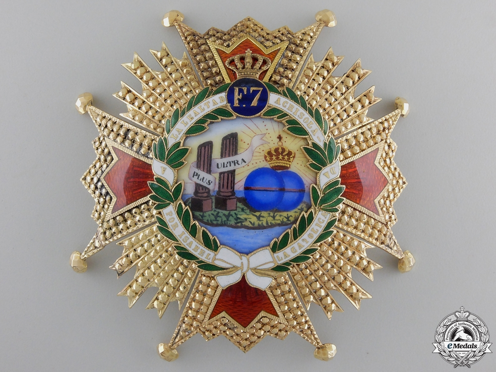eMedals-A Superb Order of Isabella the Catholic in Gold; Grand Cross