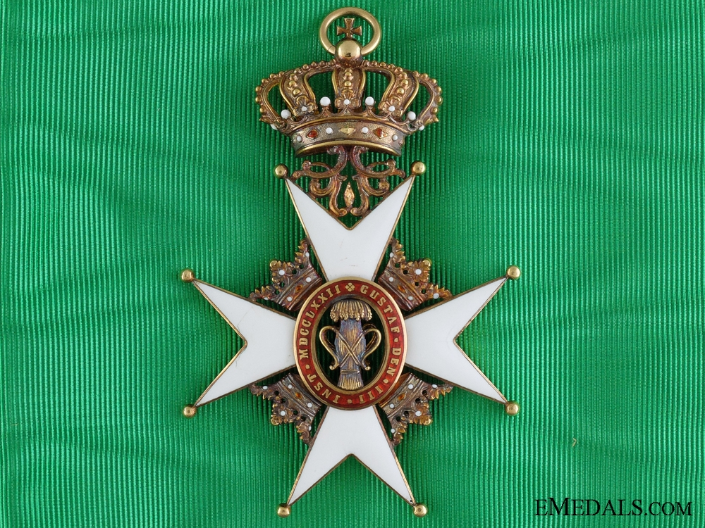 eMedals-A Swedish Order of Vasa in Gold; Grand Cross