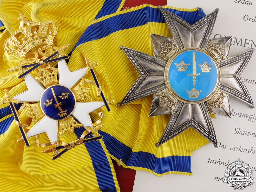 eMedals-A Swedish Order of the Sword to Air Force Section Chief; Grand Cross Set