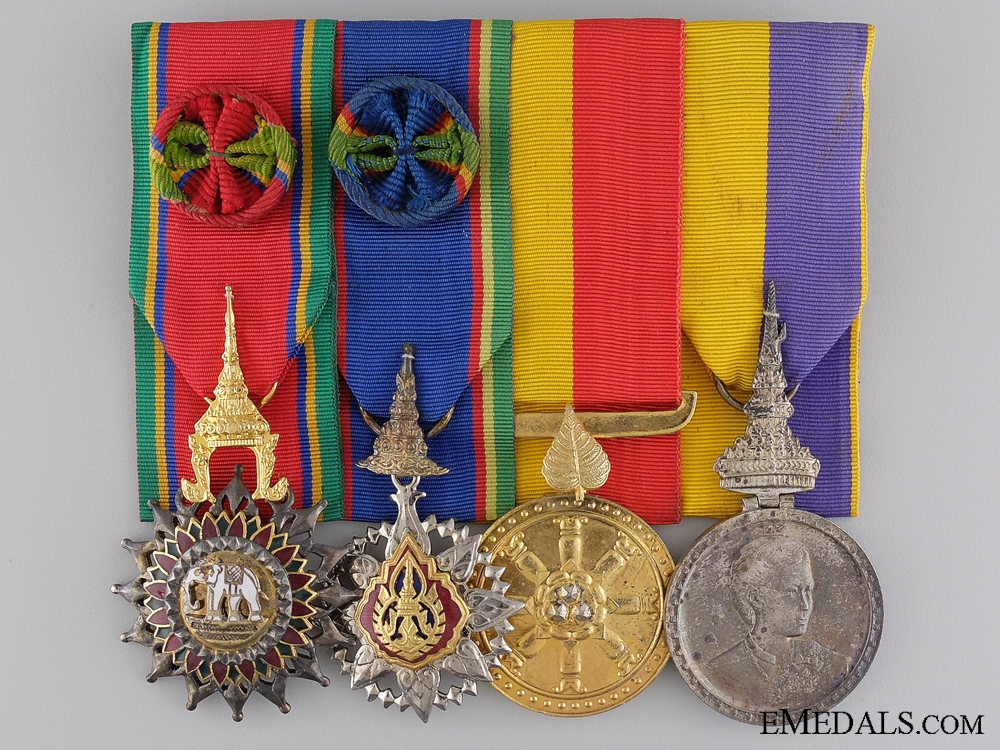 eMedals-A Thai Order of the White Elephant Medal Bar