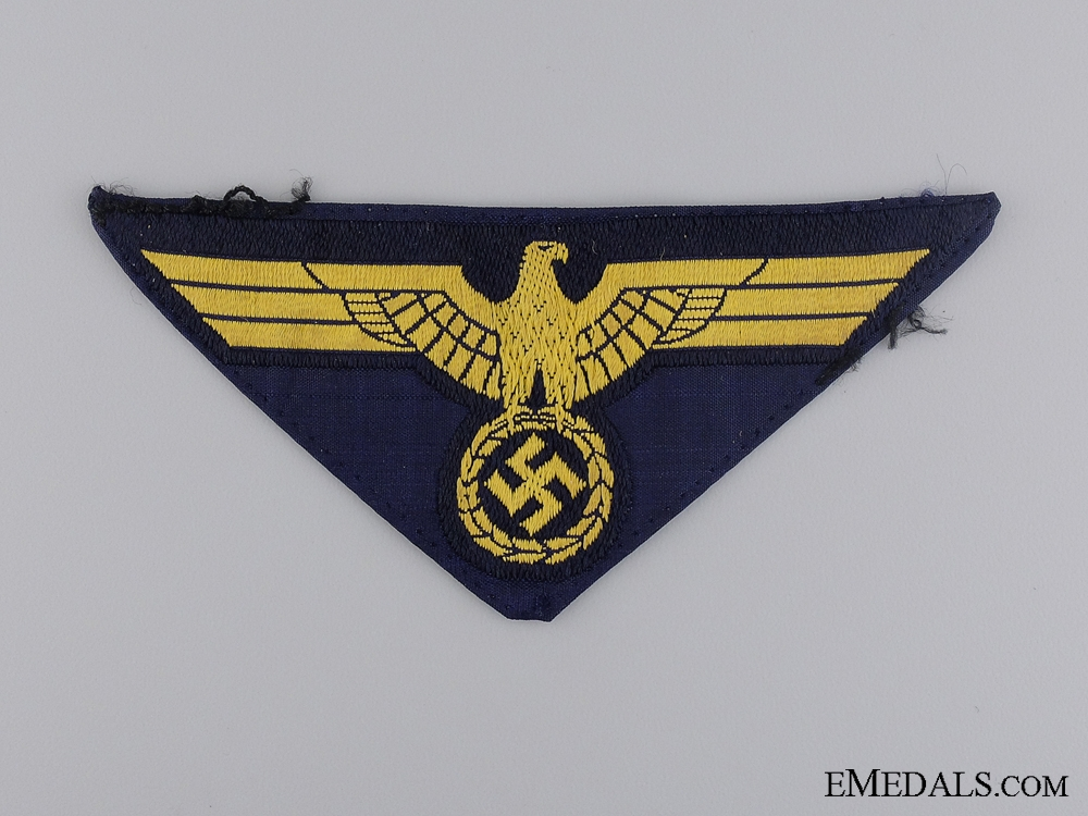 eMedals-A Uniform Removed Kriegsmarine NCO Breast Eagle