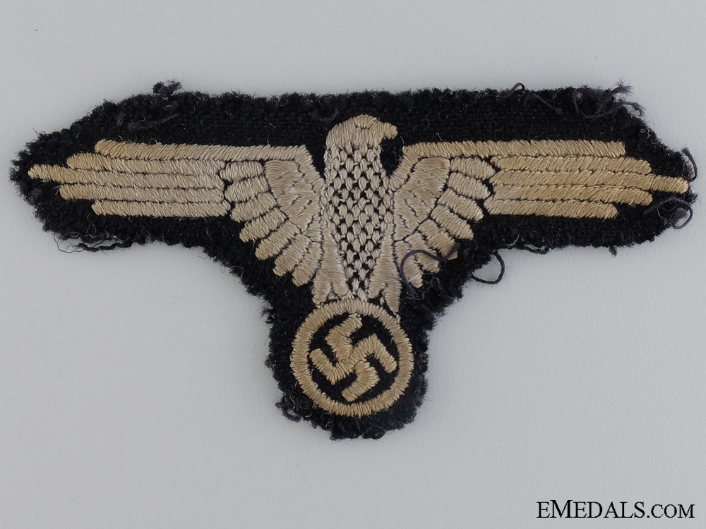 eMedals-A Uniform Removed Waffen-SS Sleeve Eagle