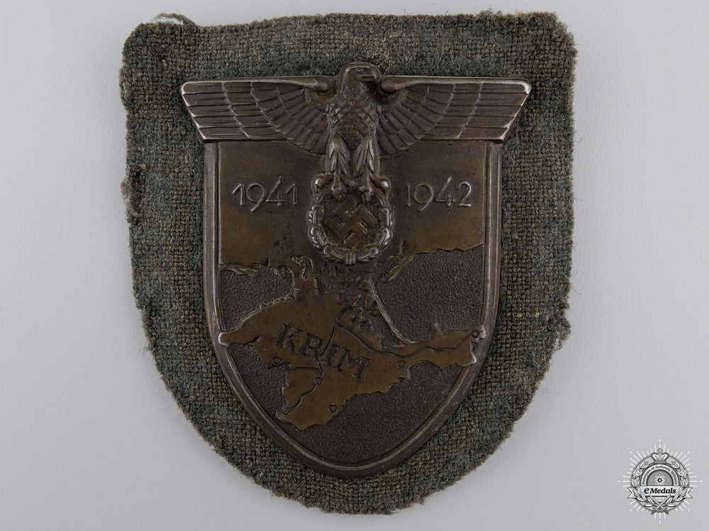 eMedals-A Uniform Removed Army Issued Krim Shield