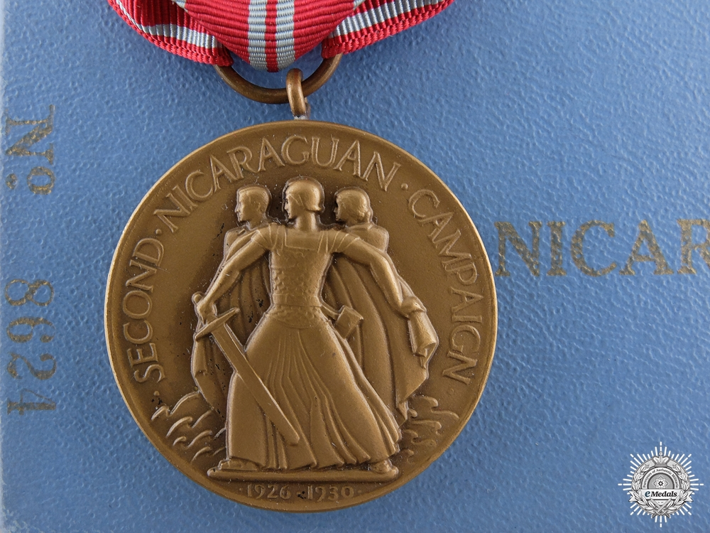 eMedals-A US Navy Second Nicaraguan Campaign Medal 1926-1933 with Box