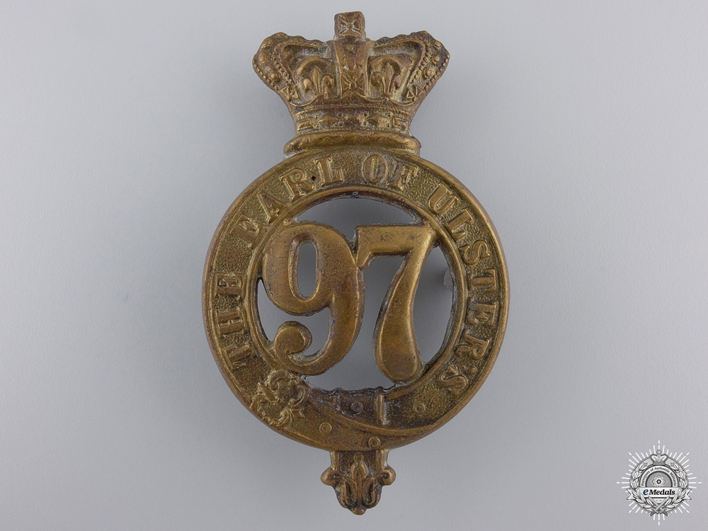 eMedals-A Victorian 97th (The Earl of Ulster's) Regiment of Foot Glengarry Badge  Consignment #27