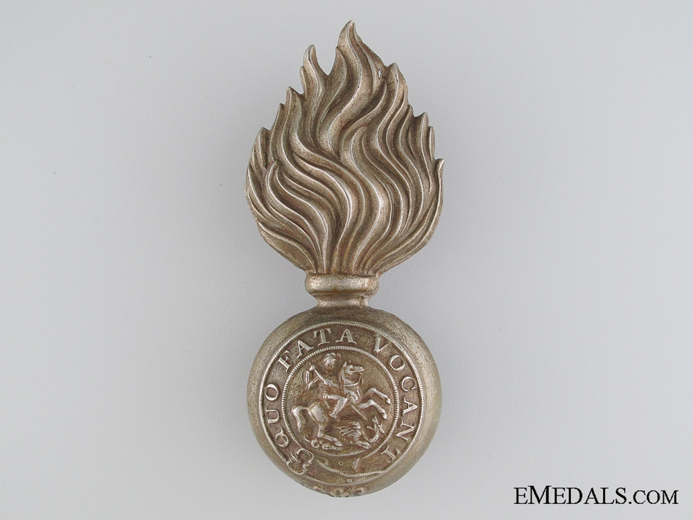 eMedals-A Victorian Northumberland Fusiliers Glengarry Badge