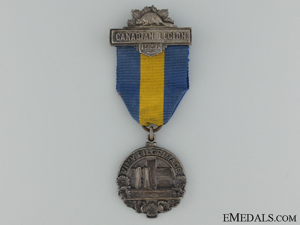eMedals-A Vimy Pilgrimage 1936 Medal by J.R.Gaunt