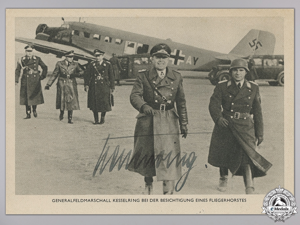 eMedals-A Wartime Signature of General Feldmarchall Kesselring   consignment #4