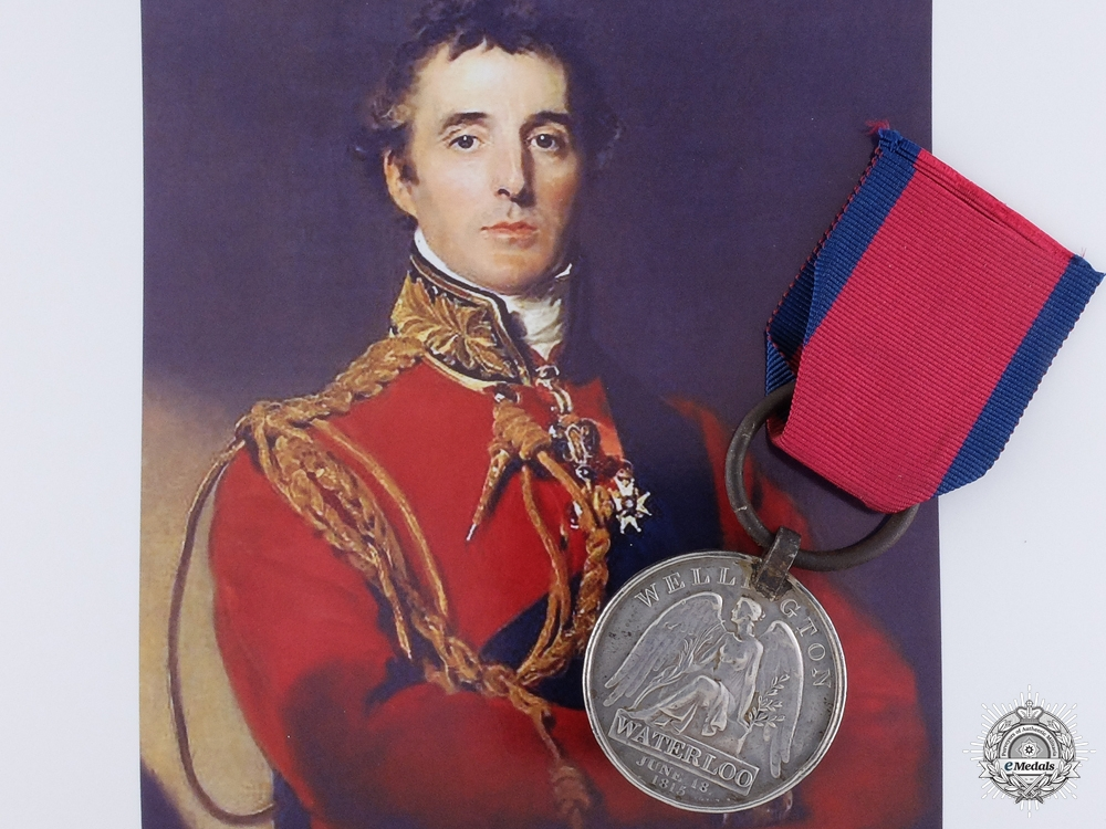 eMedals-A Waterloo Medal to Ainslie who Carried 69th Regiment ColoursConsignment #4