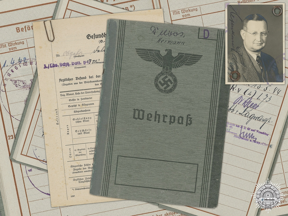 eMedals-A Wehrpass to Hermann Delvos: Stalag 369 Camp Guard
