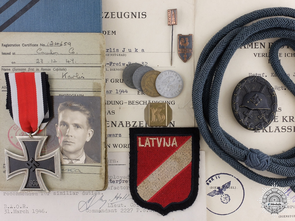 eMedals-A well Documented Grouping to the 3rd Latvian Waffen-SS Regiment