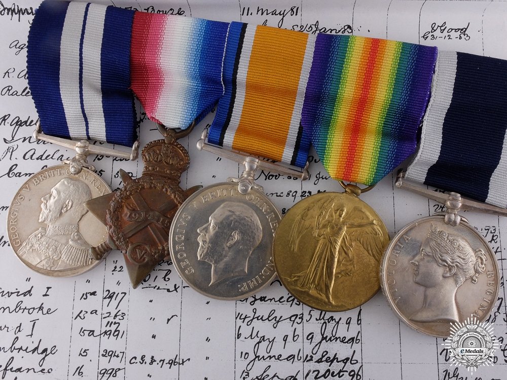 eMedals-A WWI DSM for Service on the Armed Steam Yacht James Fletcher