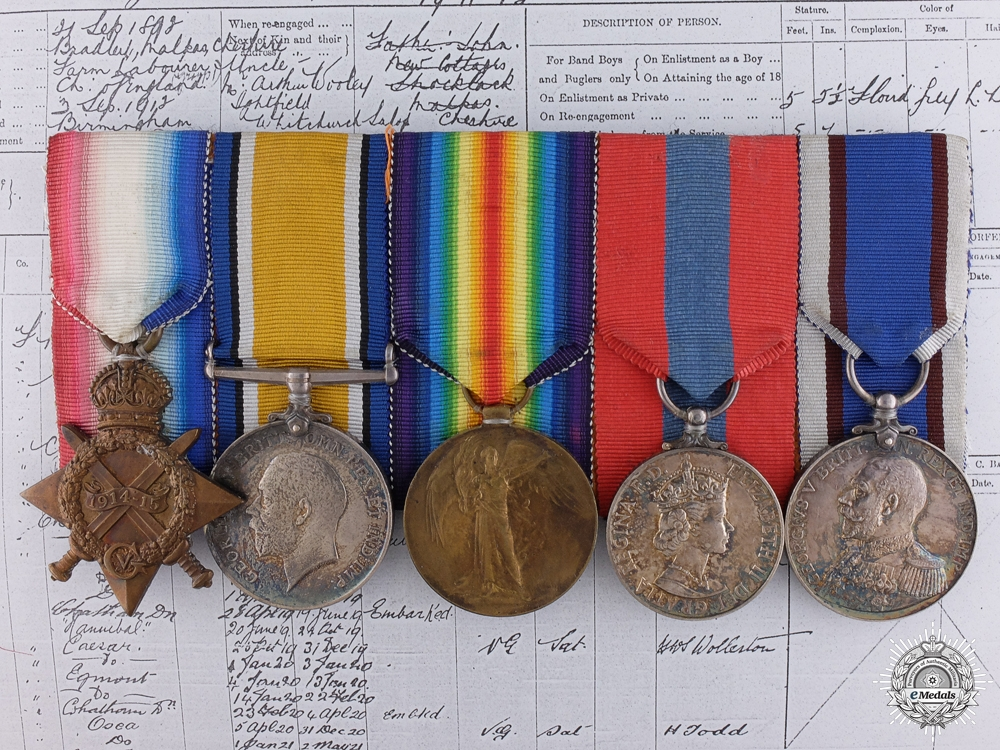 eMedals-A WWI Group to the Royal Marine Light Infantry; 6th Battleship Squadron