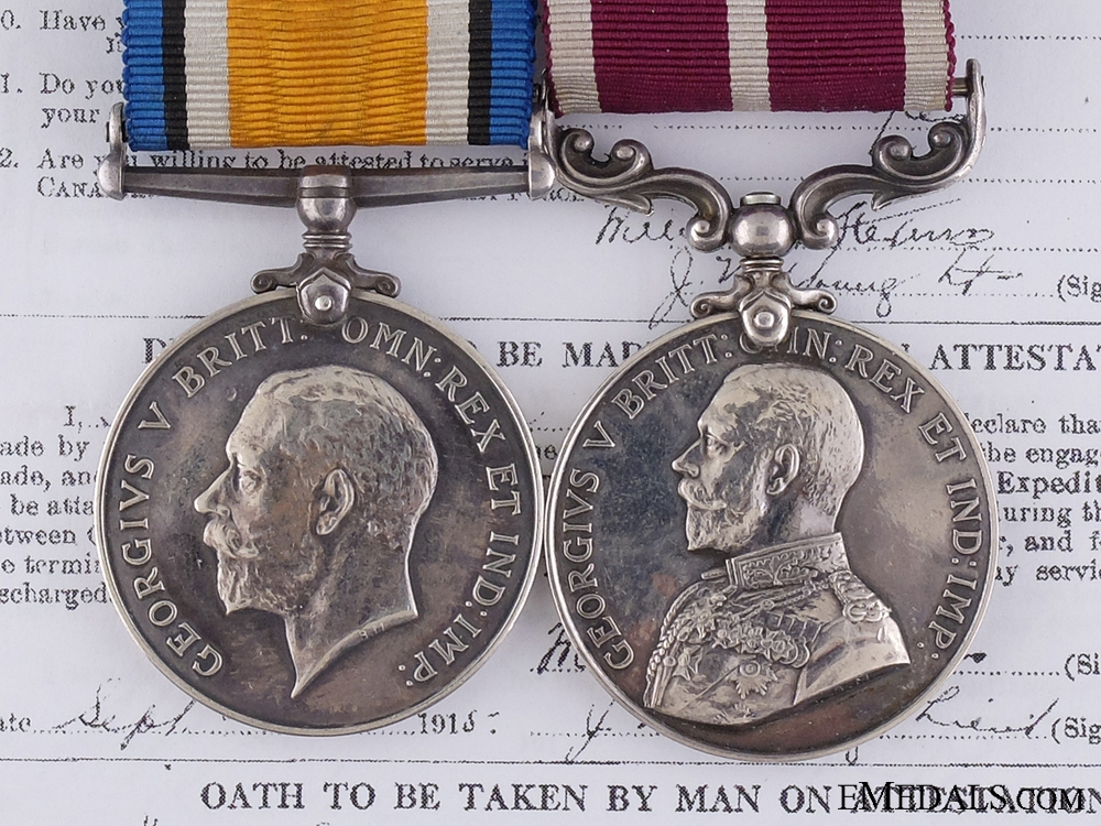 eMedals-A WWI Meritorious Service Pair to the 70th Canadian Infantry