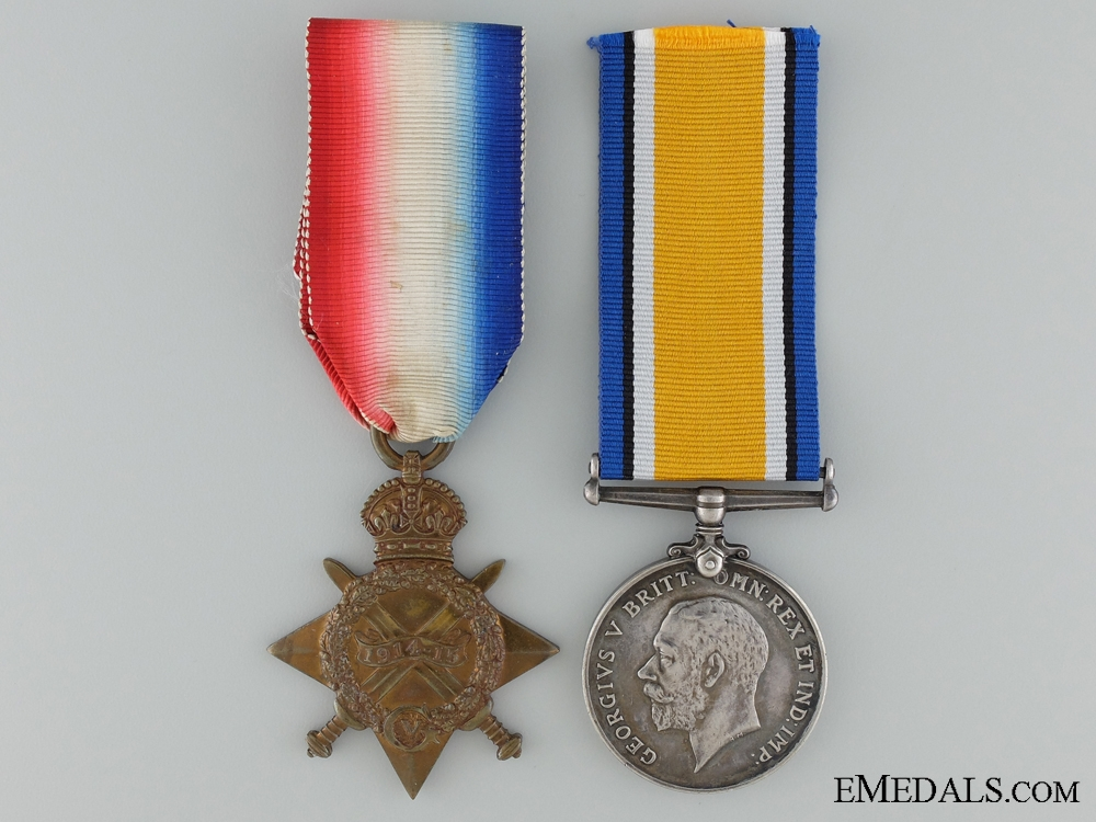 eMedals-A WWI Pair to Warrant Officer 2nd Class J.R.Crisp; Royal Engineers