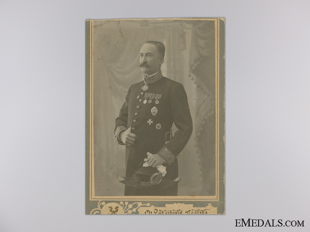 eMedals-A WWI Russian Officer's Photograph 1914; St.Anne Recipient