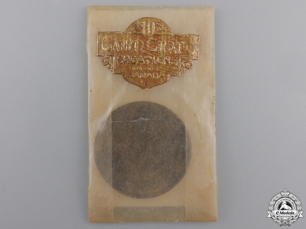 eMedals-A WWII 48th Highlanders Regimental Lucky Pocket Piece by Cairn-Craft of Toronto