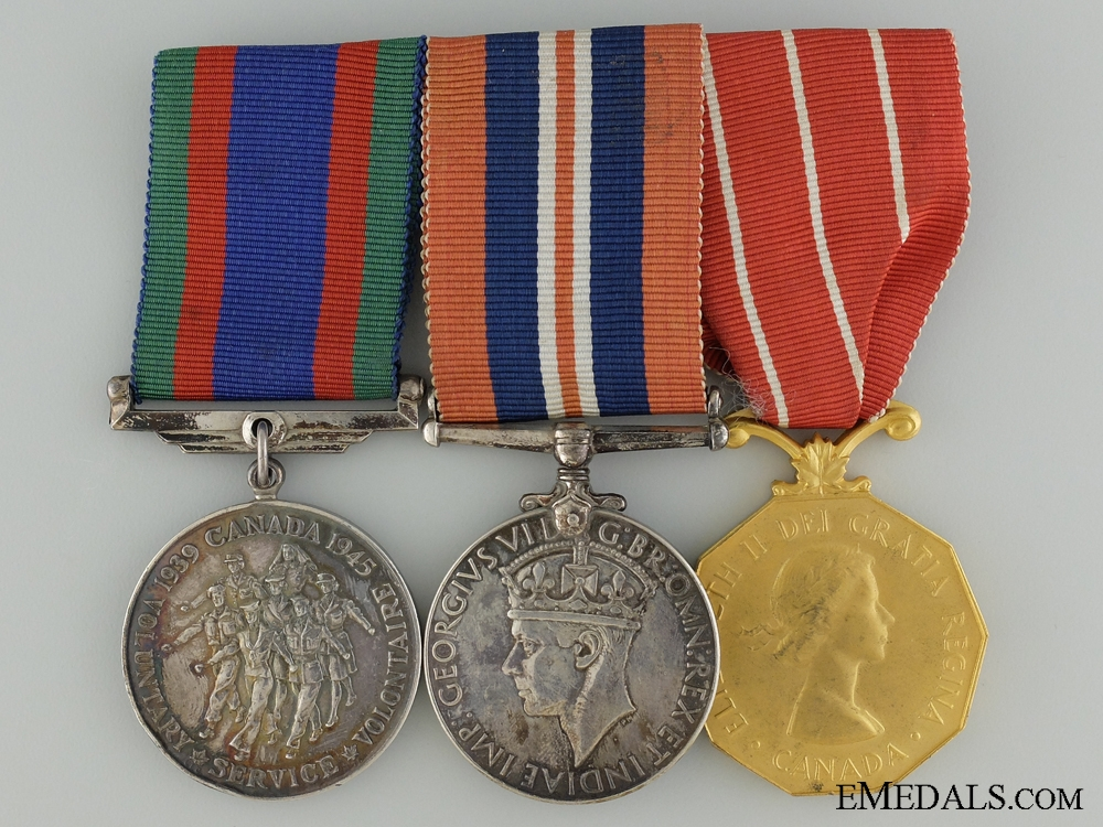 eMedals-A WWII Canadian Forces Decoration Medal Group to Sgt. Williamson
