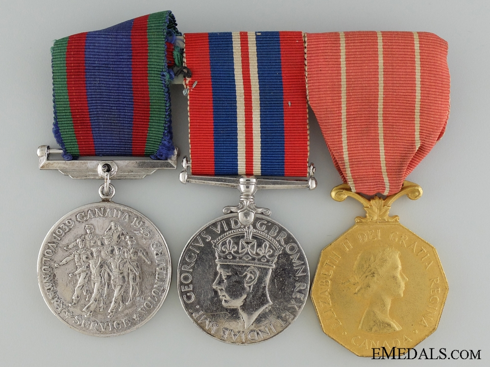 eMedals-A WWII Canadian Forces Decoration Group to Cpl. Barnes