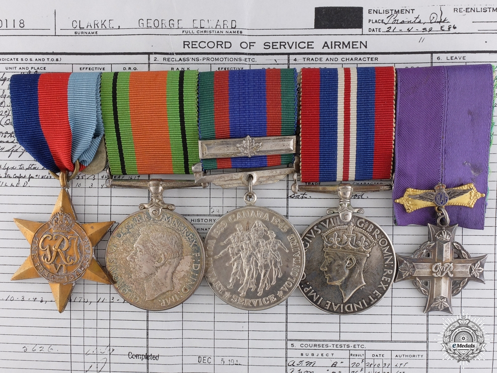 eMedals-A WWII Canadian Memorial Cross Group to 402nd Squadron
