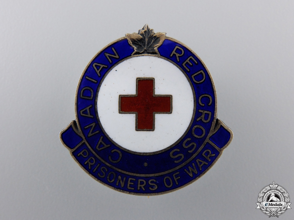 eMedals-A WWII Canadian Red Cross Prisoners of War Badge