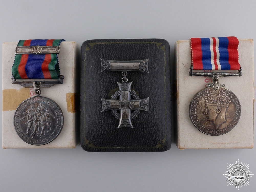 eMedals-A WWII Memorial Cross Group to Flight Sergeant Charles E. Paquin