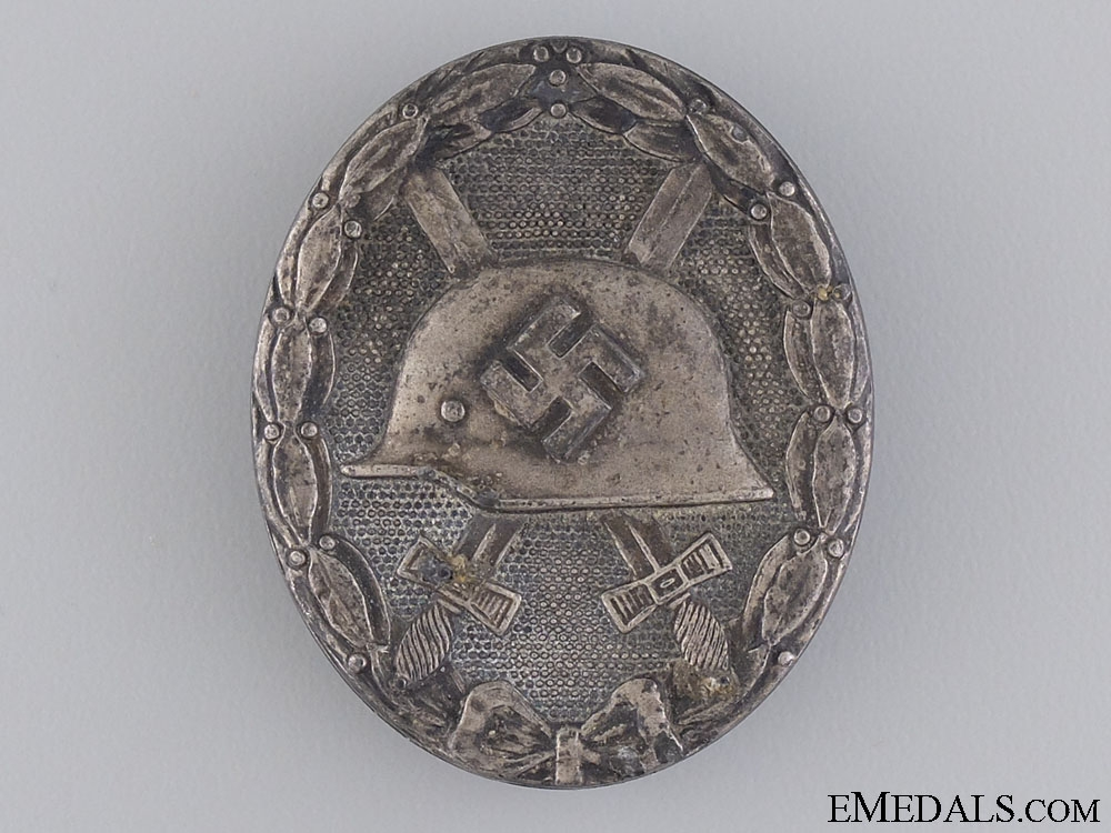 eMedals-A WWII Wound Badge; Silver Grade by Hauptmünzamt