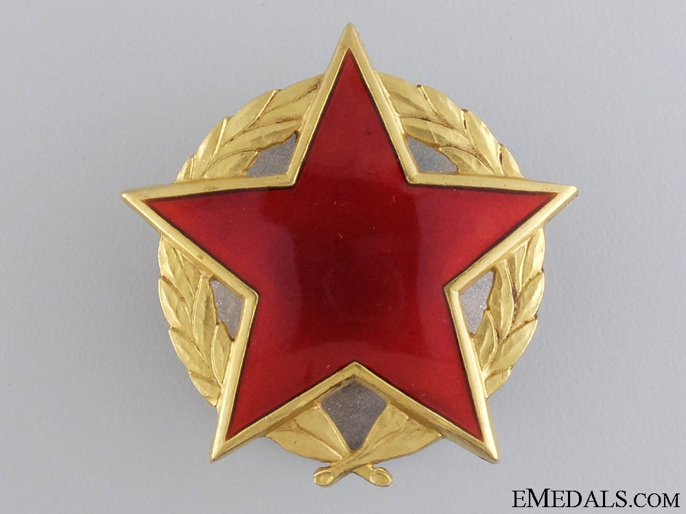eMedals-A Yugoslavian Order of the Partisan Star; First Class in Gold