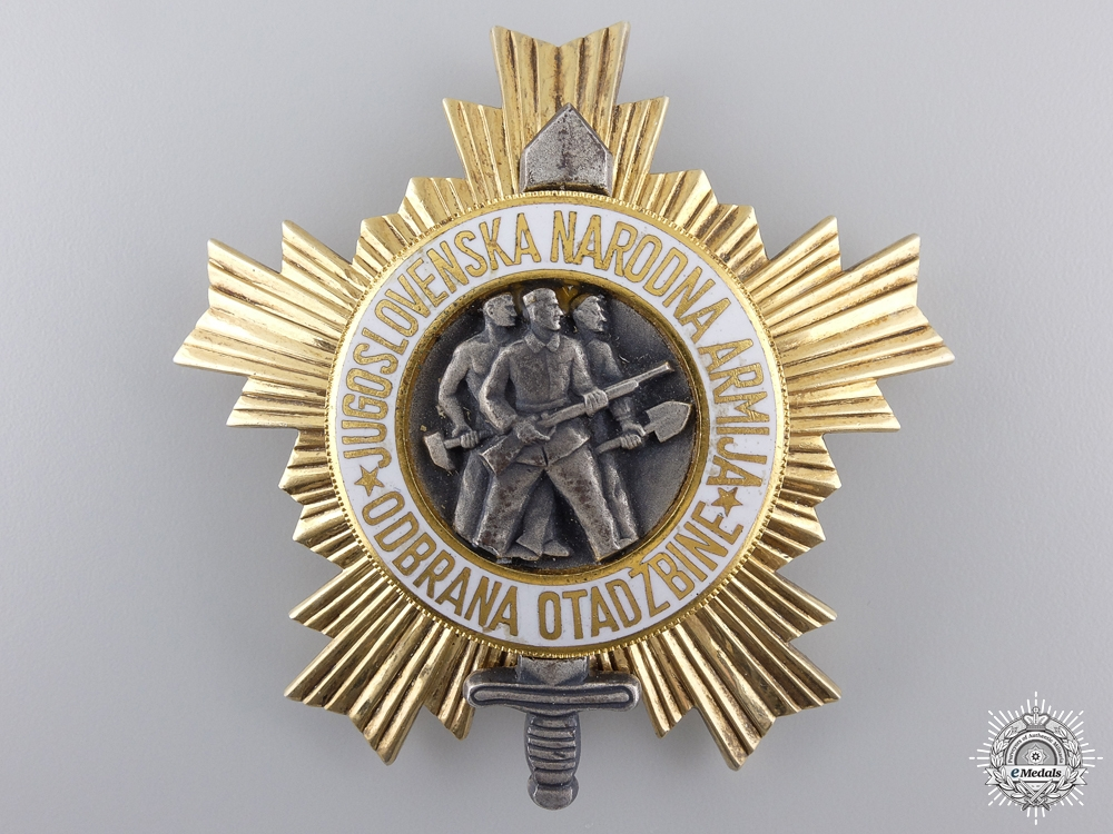 eMedals-A Yugoslavian Order of the People's Army with Gold Star