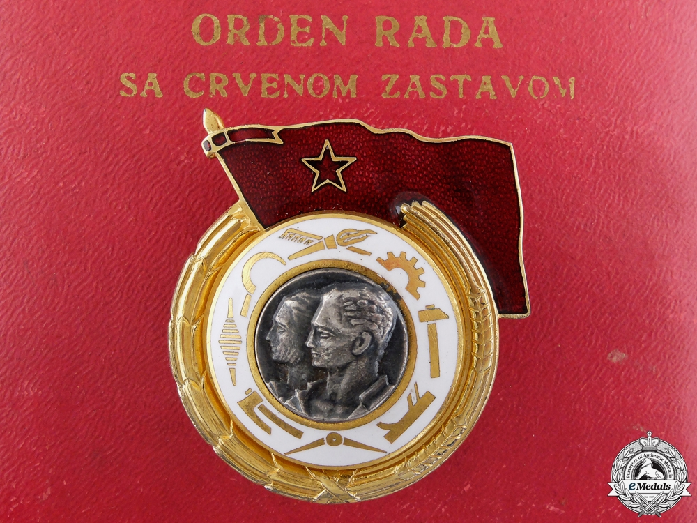 eMedals-A Yugoslavian Order of Labour with Red Banner; 1st Class
