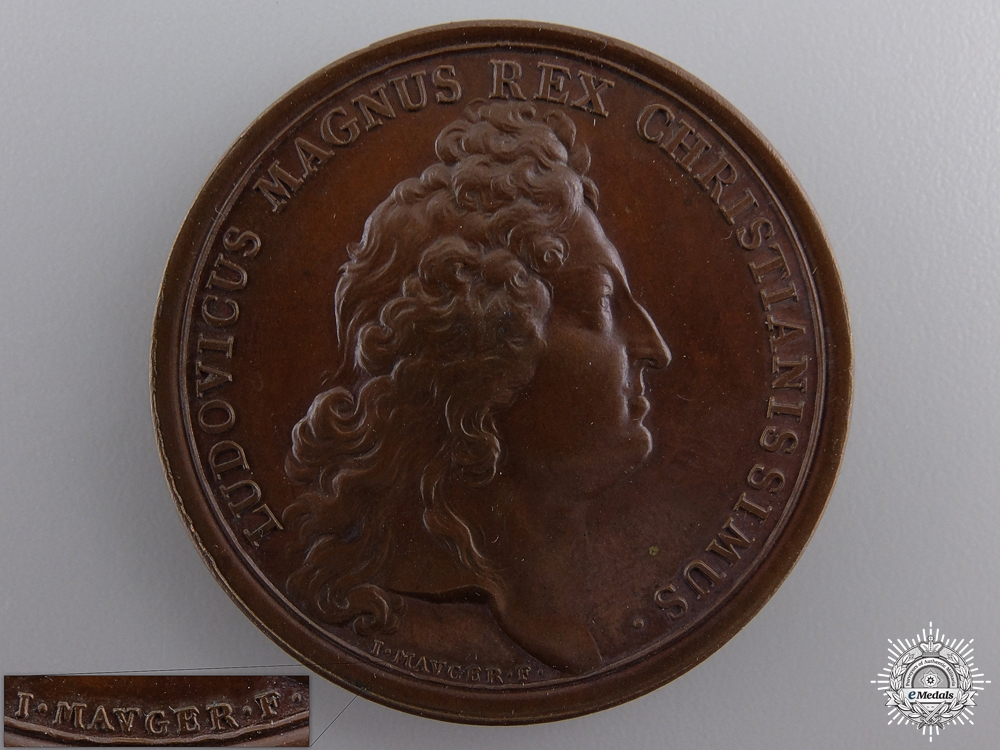 eMedals-An 1690 King Louis XIV Quebec Liberated Medal