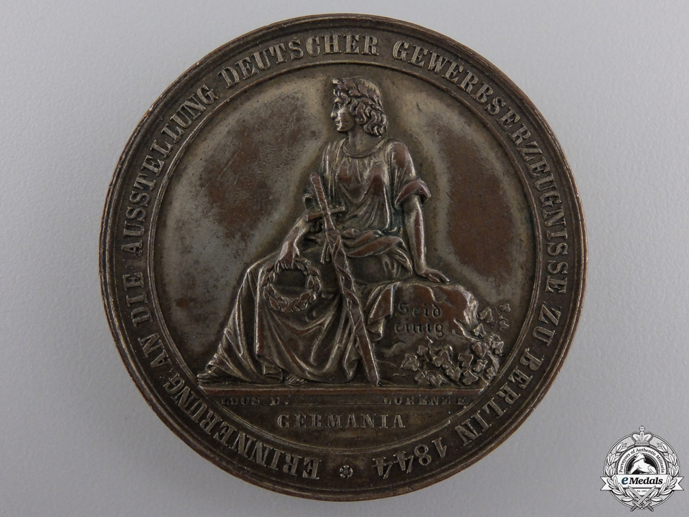 eMedals-An 1844 Berlin Commercial and Industrial Exhibition Medal