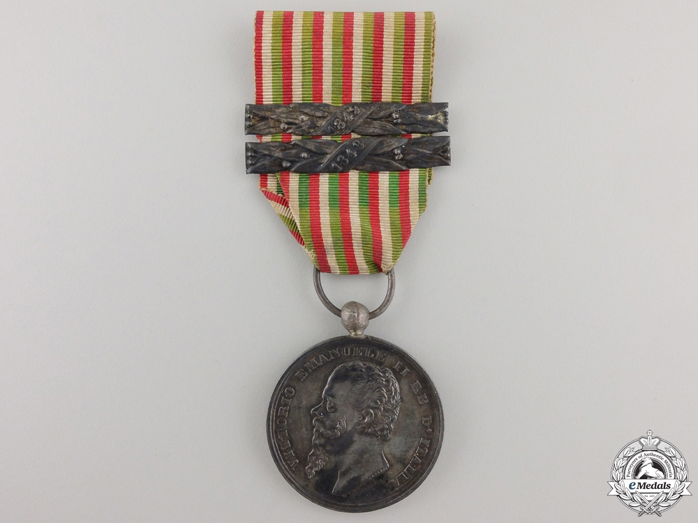 eMedals-An 1862 Italian Independence Medal with Two Clasps