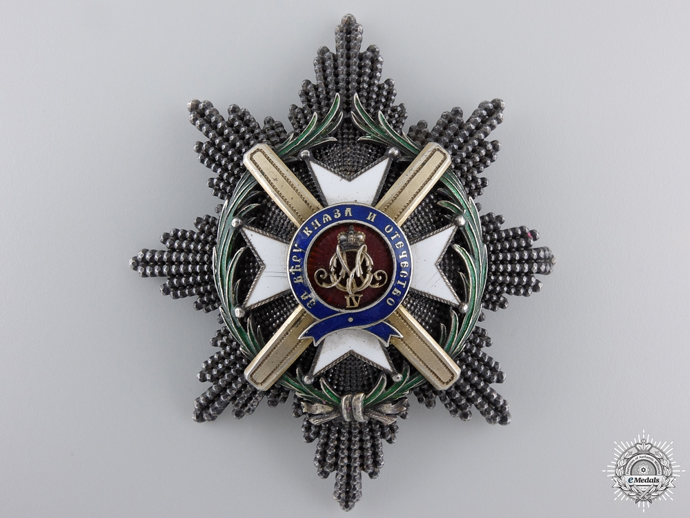 eMedals-An 1868-1882 Serbian Order of Takovo; 2nd Class Breast Star by C.F. Rothe