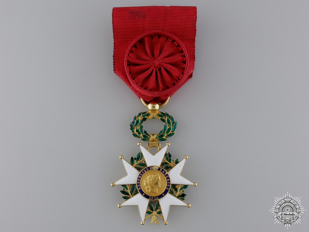 eMedals-An 1870  French Legion D'Honneur; Officers Cross in Gold