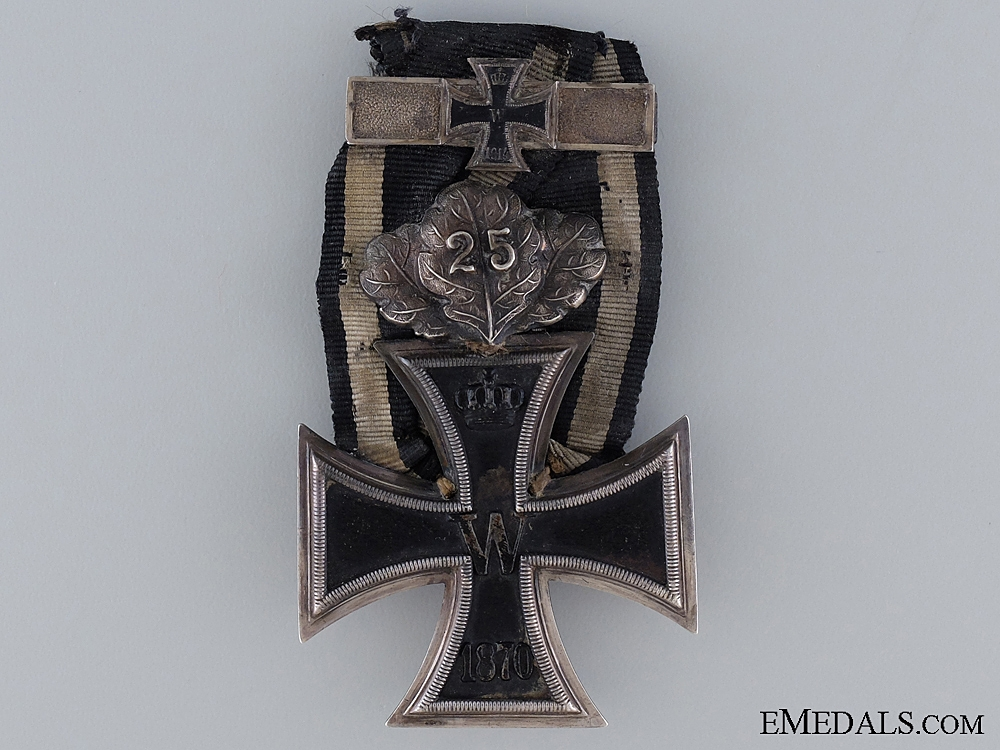 eMedals-An 1870 Iron Cross 2nd Class with Jubilee Spange and 1914 Bar