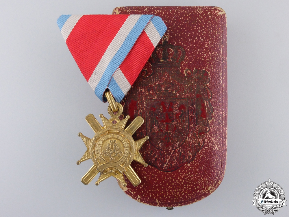 eMedals-An 1877-1903 Serbian Cross of Takovo with Case
