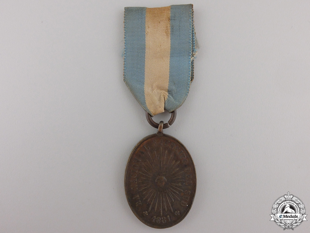 eMedals-An 1881 Argentinian Rio Negro and Patagonia Medal