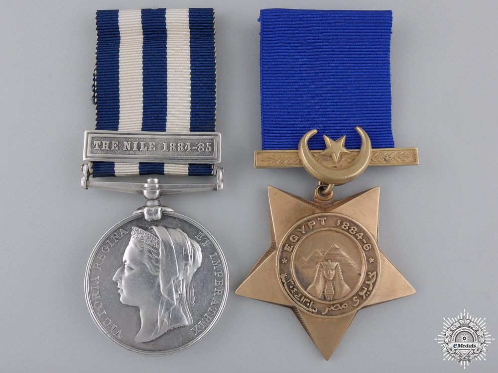 eMedals-An 1882 Egypt Service Pair to the Manitoba Contingent