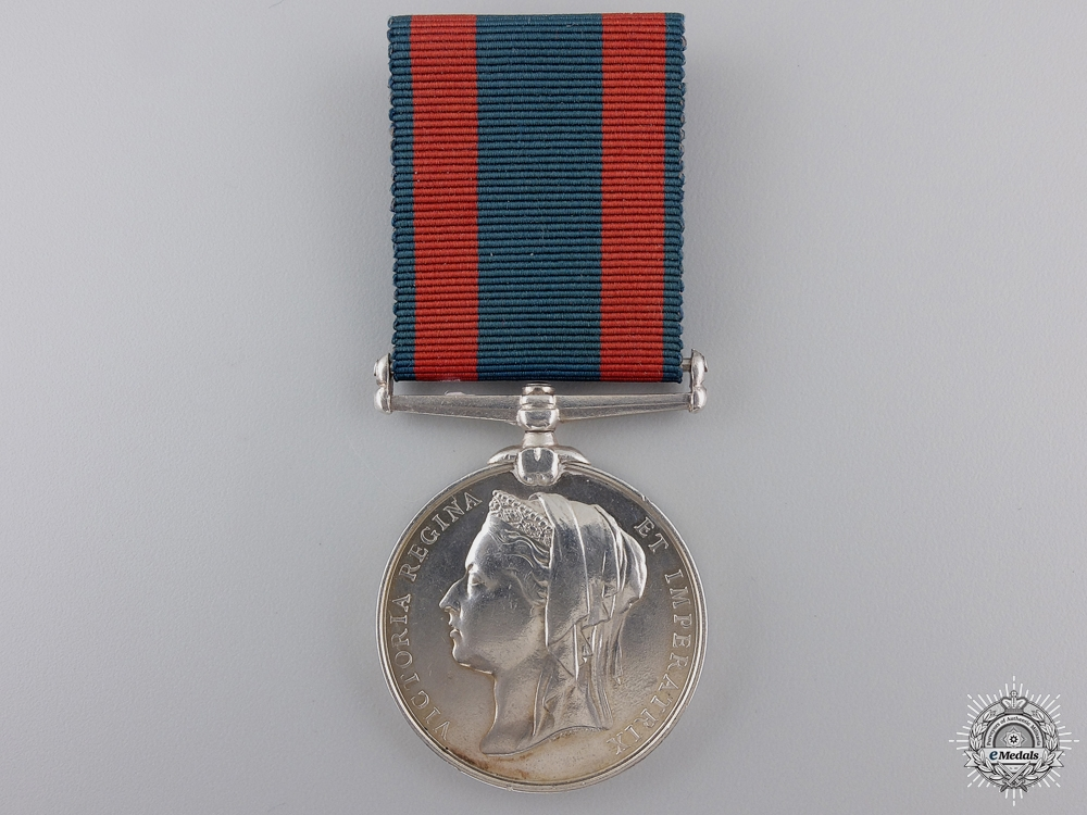 eMedals-An 1885 North West Canada Medal  to Color Sergeant Hector Sutherland
