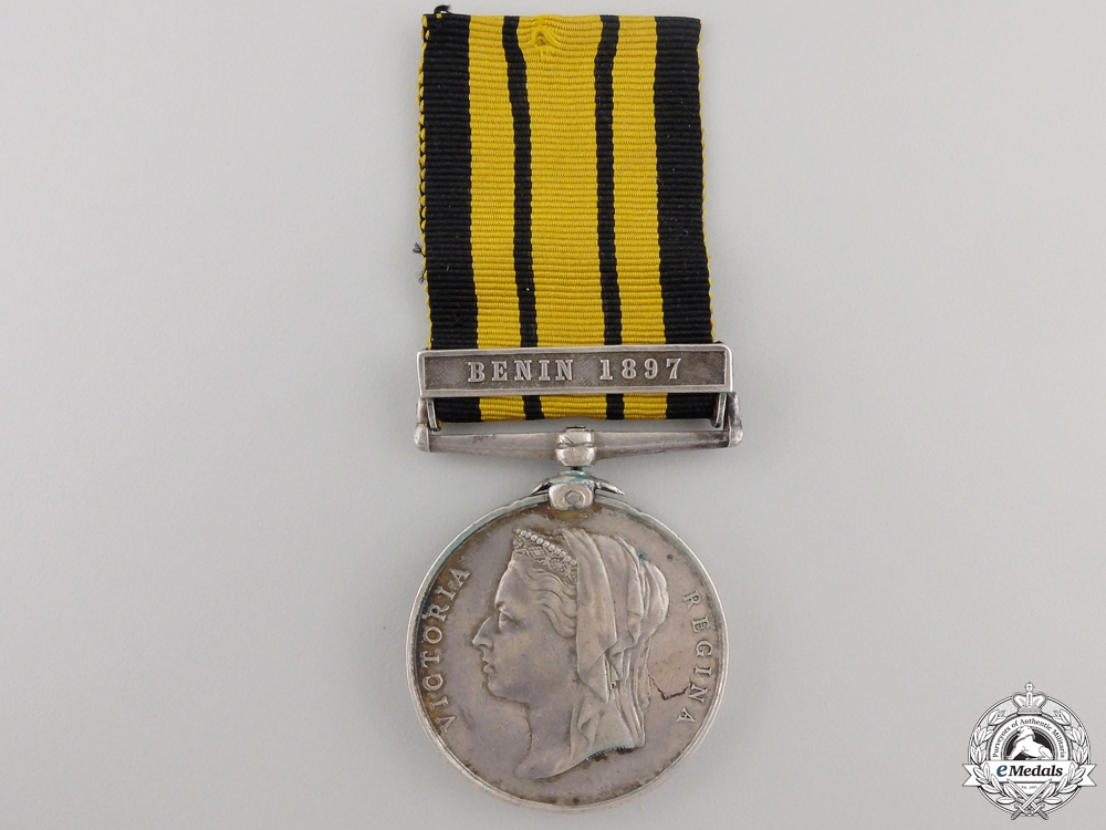 eMedals-An 1887-1900 East and West Africa Medal to H.M.S. Thessus