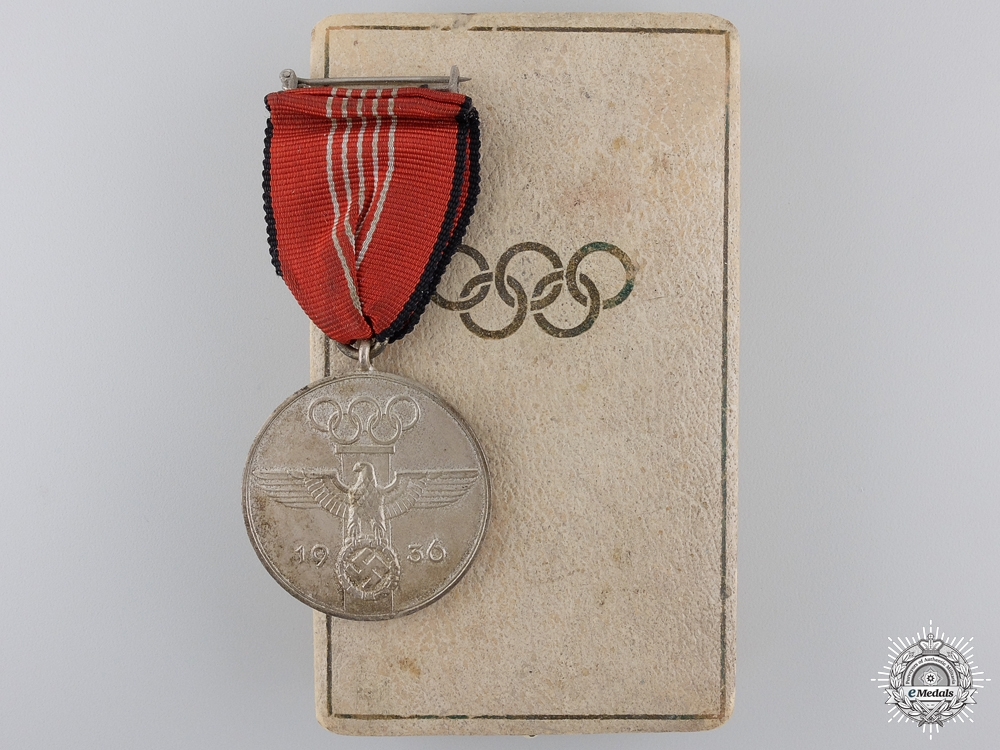 eMedals-An 1936 Berlin Summer Olympic Games Medal with Case