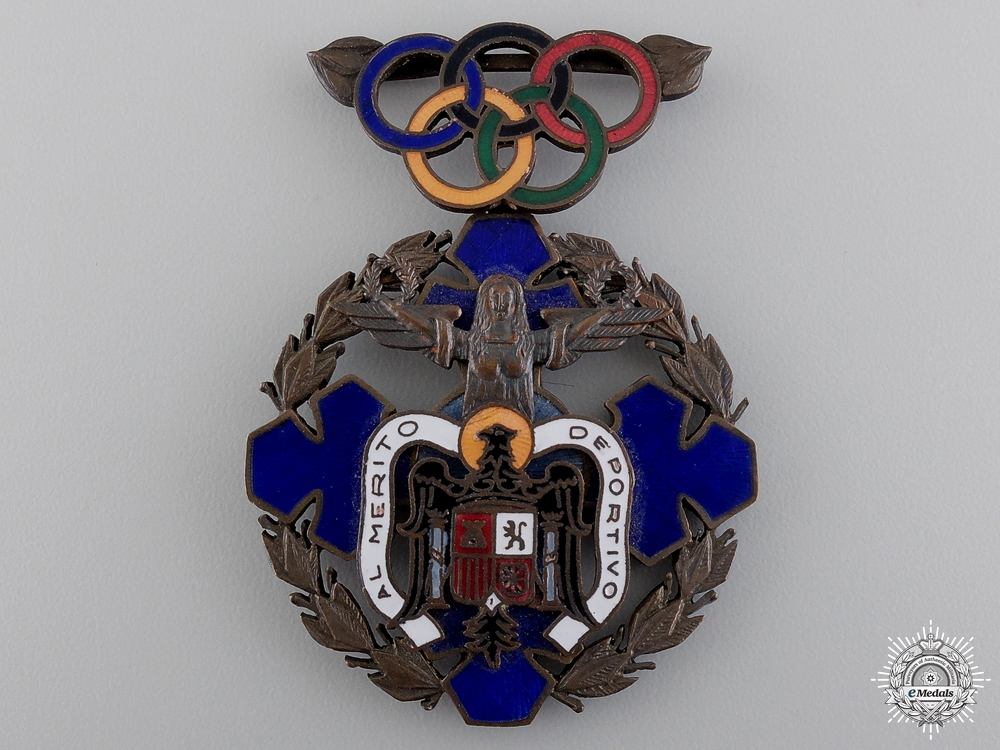 eMedals-An 1940 Spanish Olympic Committee Merit Award