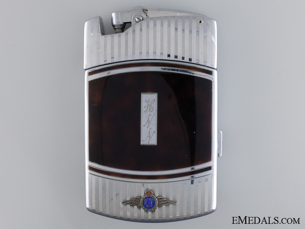 eMedals-An 1941 RCAF Ronson Cigarette Case with Inset Lighter