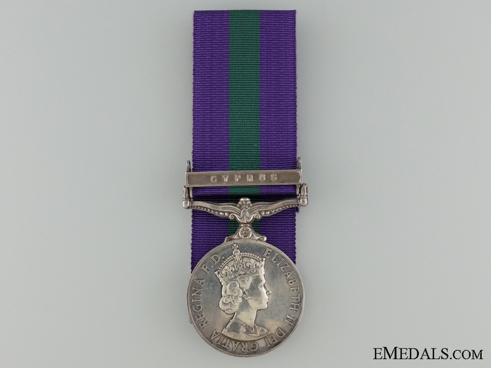 eMedals-An 1962-2007 General Service Medal for Cyprus
