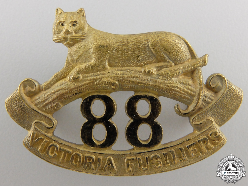 eMedals-An 88th Victoria Fusiliers Officer's Collar Badge