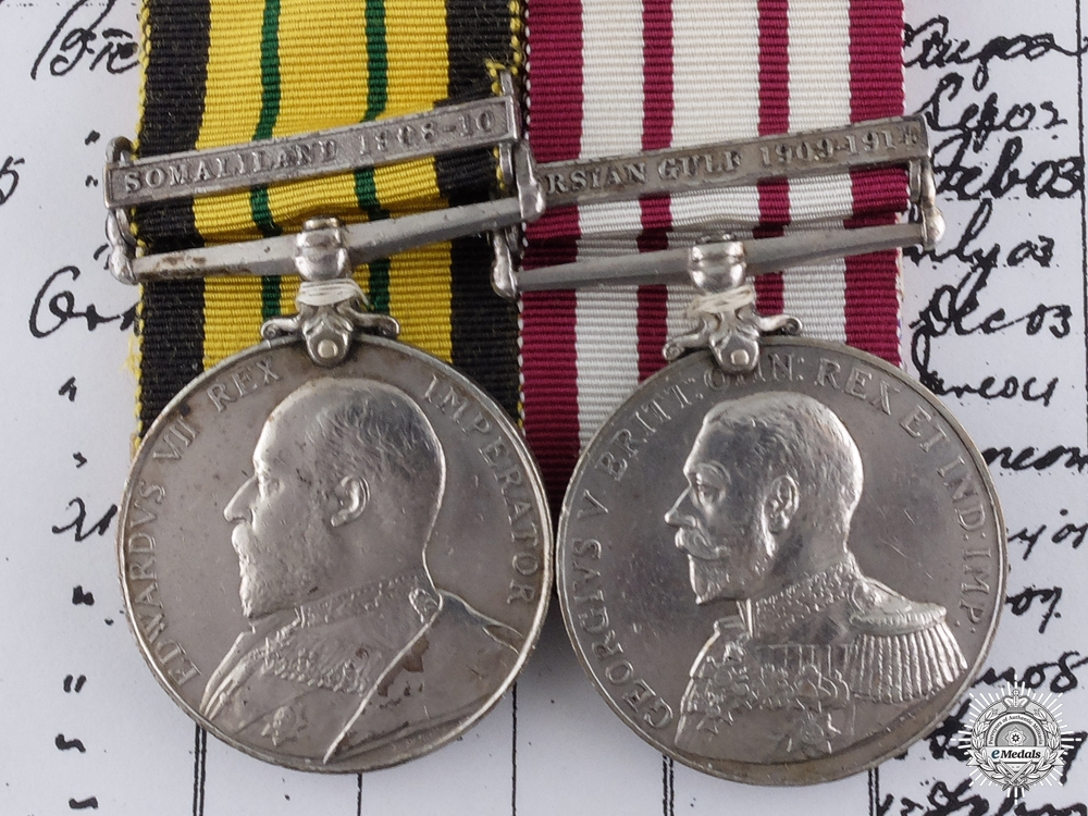 eMedals-An Africa & Persian Gulf Service Pair to HMS HYACINTH